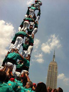 Human Tower, Castellers de Vilafranaca in New York.
