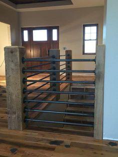 stairway rail treatment