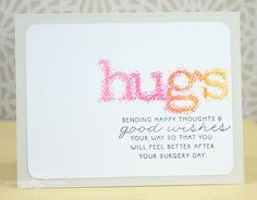 Hugs Card by Nichole Heady for Papertrey Ink (November 2013)