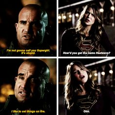 """How'd you get the name Heatwave?"" - Kara and Mick #TheFlash"