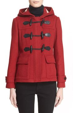 Burberry Brit 'Blackwell' Short Wool Duffle Coat available at #Nordstrom