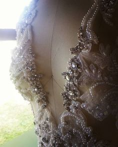 Hand beaded sparkling crystals RUTH MILLIAM BRIDAL COUTURE