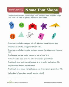 Geometry Worksheets, Math Geometry, Math Worksheets, Elementary ...