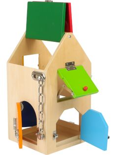 Small Foot House of Locks Door Chains, Baby Wish List, Toy House, Montessori Toys, Wooden House, Learning Toys, Big Houses, Sylvanian Families, Educational Toys
