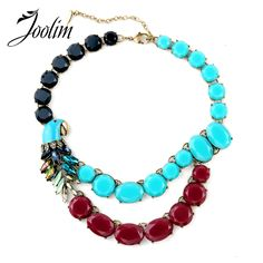 JOOLIM Jewelry Wholesale/  Parrot Necklace Statement Choker Necklace Collar Necklace Factory supply  free shipping