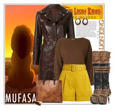 """""""The Lion King: Mufasa's Fearless Style"""" by msmith801 ❤ liked on Polyvore featuring Helmut Lang, H Beauty&Youth, Isa Arfen, HADES, Goossens, Robert Lee Morris, Leather, disney, thelionking and disneycharacter"""