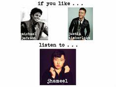 if you like michael jackson or justin timberlake....listen to jhmaeel!