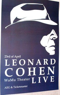 Leonard Cohen Poster Concert $9.84 #LeonardCohen