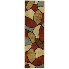 Multicolored Oval Tiles Contemporary Rug (2'7 x 10' Runner) | Overstock™ Shopping - Great Deals on Runner Rugs
