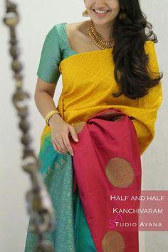 Discover thousands of images about Veena R Cotton Saree Blouse Designs, Bridal Blouse Designs, Kanjivaram Sarees Silk, Kanchipuram Saree, Trendy Sarees, Stylish Sarees, Kerala Saree Blouse, Indian Sarees, Wedding Saree Collection