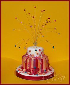 torta di carnevale con fontana di perle