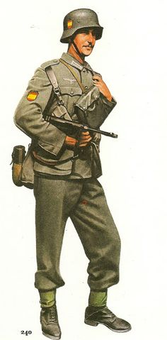 Infantryman, Spanish Blue División, Pin by Paolo Marzioli