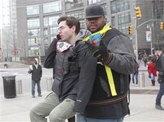 Man toted around NYC in baby carrier by '30 Rock's' Grizz Chapman - TODAY.com