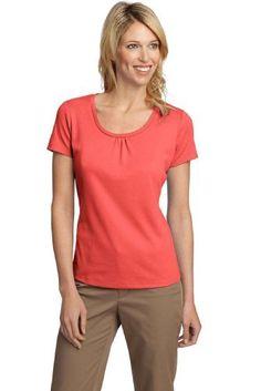 8302423b751de Port Authority Ladies Silk Touch Interlock Scoop Neck Shirt. Port  Authority.  19.36