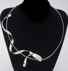 Metal Ribbon Necklace, by JoAnn Graham - featured on Jewelry Making Journal