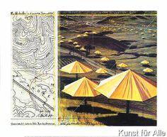 Christo und Jeanne-Claude - Umbrellas Yellow (M375)