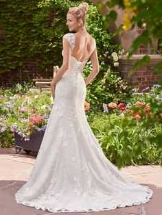 This is Brenda, Rebecca Ingram by @maggiesottero - such a romantic and classic wedding dress.