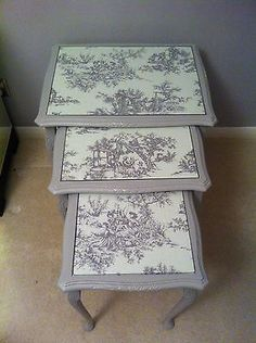 Shabby Chic Nest of Tables | eBay