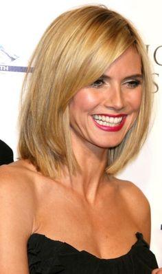 Heidi Klum hair style blonde bob