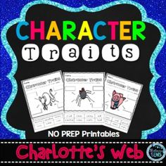 how to write a character web for charlottes web
