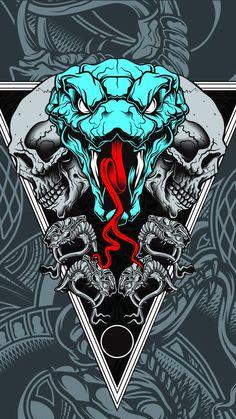 Graffiti Wallpaper Iphone, Hipster Wallpaper, Dark Wallpaper Iphone, Skull Wallpaper, Graphic Wallpaper, Anime Scenery Wallpaper, Cool Wallpaper, Yin Yang Art, Snake Art