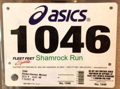 1st 4M - SHAMROCK RUN.  March 2, 2013.  Tipperary Hill, Syracuse, NY.  Time 46:39min (11:66).