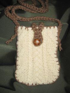 My fisherman knit sweater repurposed messenger bag!