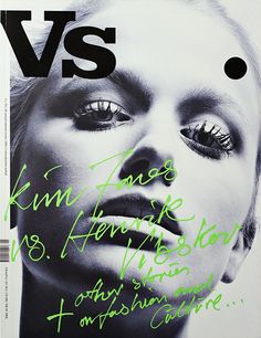 neon, handwritten coverlines over a B&W photo