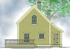 The Walton timber frame cottage or small home by Timberframe Houseplans ; Post and beam building plans