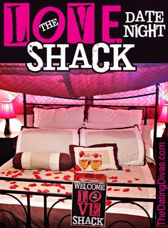 Grab this FREE printable and make a romantic love shack for an easy, fun at-home date!  No money or babysitter required! www.TheDatingDivas.com #date #anniversary