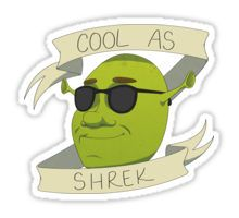 Cool As Shrek Sticker