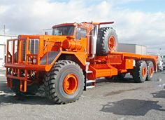 Its not old, but it's so ugly it's beautiful. All Wheel Drive Equipment builds these oilfield winch trucks and winch tractors. They design these babies on CAD to requested specs. So each one tends to be just a little different.