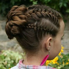Little Girl Braids - Braided Hairstyles For Little Girls - Easy and Cute Little Girl Hairstyles - Do Mens Hairstyles Thin Hair, Braided Ponytail Hairstyles, Box Braids Hairstyles, Cute Hairstyles, Toddler Hairstyles, Short Haircuts, Hairstyles Pictures, Short Hairstyle, Little Girl Updo
