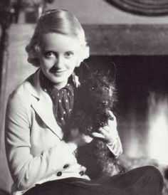Bette Davis and her scottie