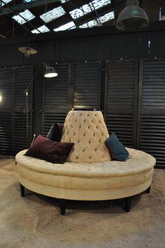 beautiful circular sofa from a theater c.1950