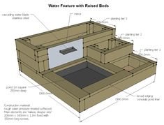 Image result for water feature in raised bed