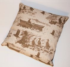 Shetland Toile Cushion  by Julie Williamson. This one is of Aff at da Eela,