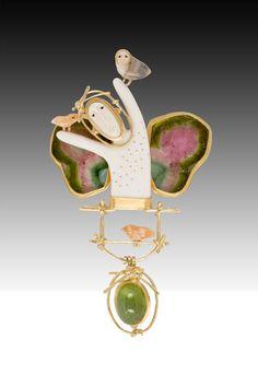 Woodland Goddess Pin/Pendant by Carolyn Morris Bach