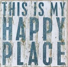 """This is my Happy Place"" Rustic Wall Decor"