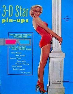1953 movie magazines   Marilyn Monroe Magazine 3D Star PINUPS 1953 V1N1 Movie Pinup Photo ...
