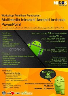 WORKSHOP ANDROID BERBASIS POWERPOINT UNESA