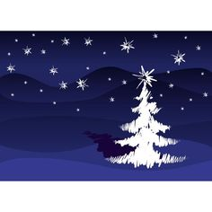 Vector Beautiful Christmas tree Stroke Design with star background