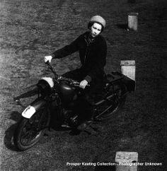 Queen Elizabeth - motorcyclist. So Cool.
