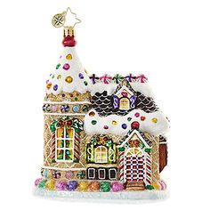 """Christopher Radko Gingerbread House Ornament - """"Home Sweets Home"""""""
