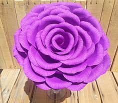 Hey, I found this really awesome Etsy listing at https://www.etsy.com/listing/196420210/large-purple-crepe-paper-rose-wedding