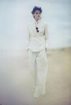 White goddess in Cutler and Gross rounds in Vogue JAPAN @voguejp @voguemagazine
