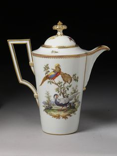 #Meissen -- Lidded Coffee Pot -- Circa 1780 -- The Victoria & Albert Museum, London