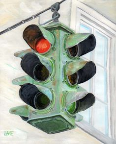 Painting of traffic lights Traffic Light, Lights, Create, Drawings, Collage, Textiles, Painting, Reading, Art