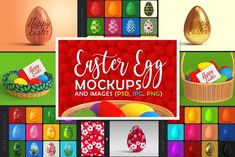 Easter Egg Mockups and Images by pixaroma on @creativemarket