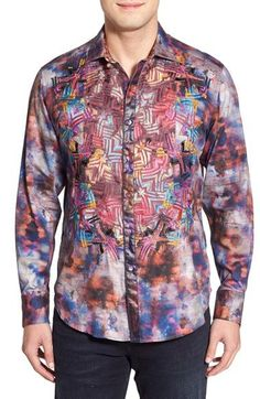 Robert Graham Braveheart Medium-sized Preowned Shirt good condition